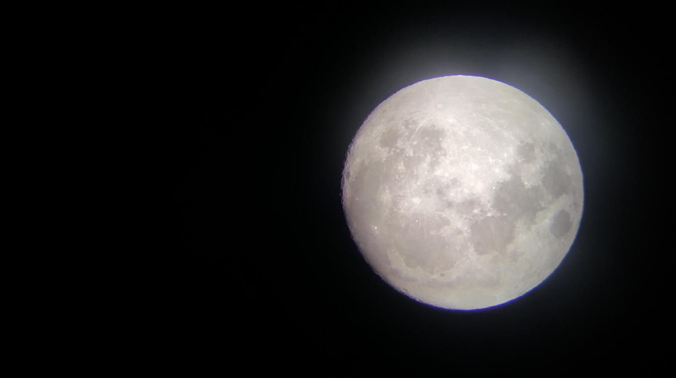 천체관측 체험 별별잔치 행사사진2 - 달사진