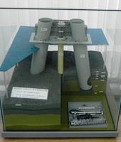 말뚝 재하 시험 모형 사진