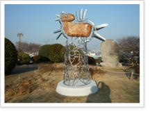 원시의 메세지 - 강이수(2011년) 조각품 사진