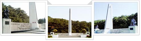 의료지원단 참전기념비 사진