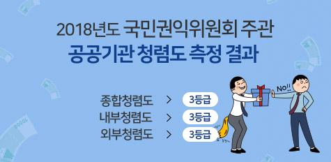 2018년도 공공기관 청렴도 측정 결과 공개