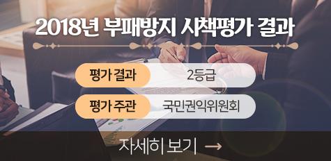 2018년 부패방지 시책평가 결과