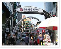 BIFF거리 부산국제영화제 홍보 현수막 배너 사진