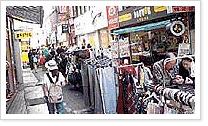 광복동패션거리 노점매대 사진